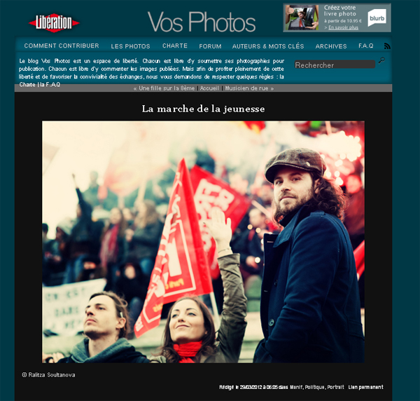 Libération publication – Jean-Luc Mélenchon