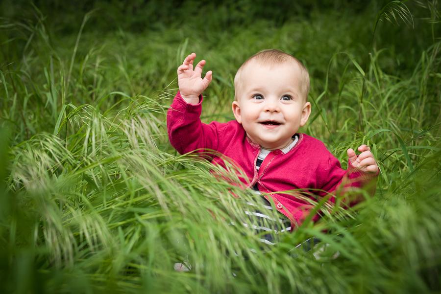 baby girl summer grass